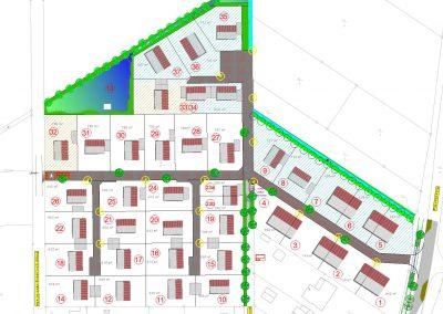 Lageplan Straßenbau