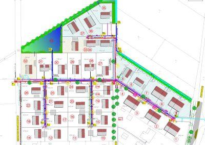 Lageplan Ver- und Entsorgungsleitungen